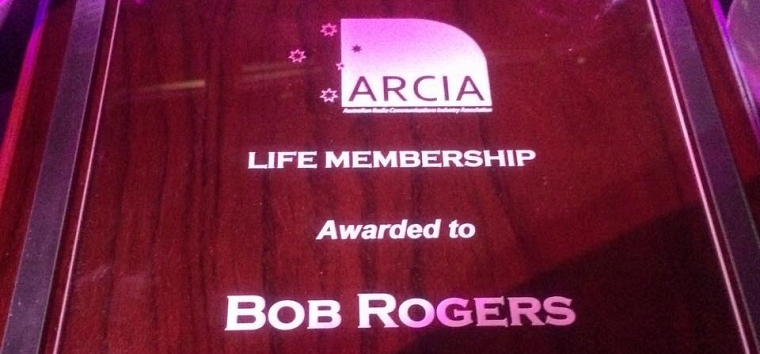 ARCIA awards Life Membership to Bob Rogers